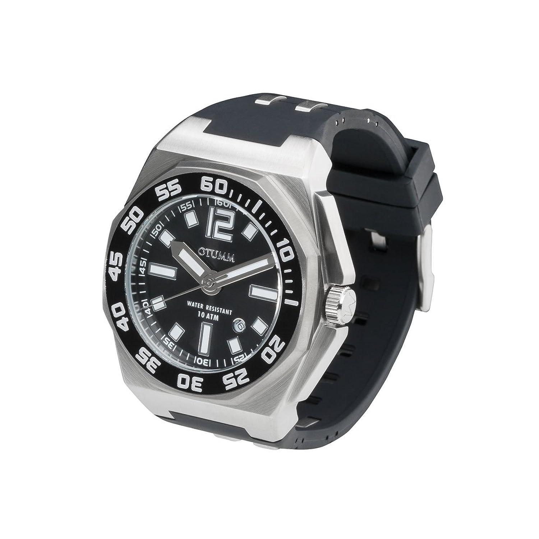 OTUMM Sports Calender 08725 Herren-Armbanduhr XL - 45mm (analog) - Schwarz
