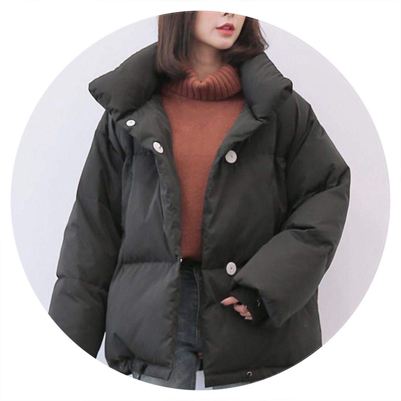 Black Jifnhtrs Winter Jacket Coats 90% Duck Down Parkas Loose Warm Snow Short Outwear Female Stand Collar Overcoat
