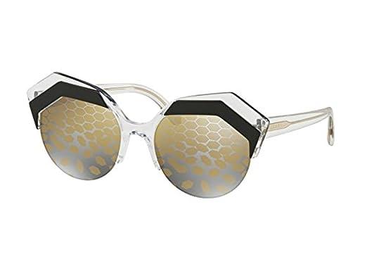Bvlgari Mujer 0BV8203 569/T9 53 Gafas de sol, Negro (Top ...