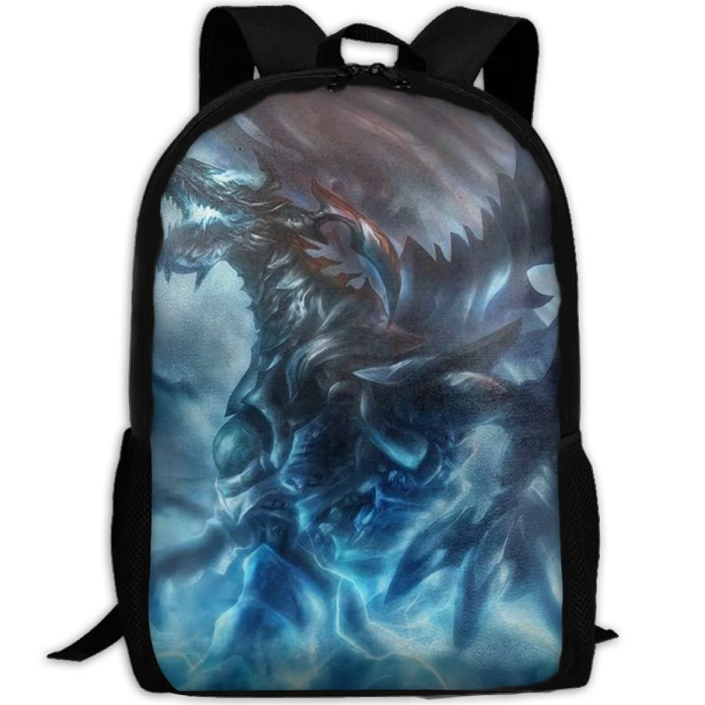 malsjk8 Thunder Dragon 3dプリントデザインスクールBookbags for Teens、バックパックカレッジバッグYoung People Daypack   B07G267GFH