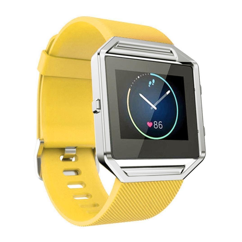 Para Fitbit Blaze,Xinantime Correa de Banda de la Muñeca Reloj Blando de Silicona (Amarillo): Amazon.es: Deportes y aire libre