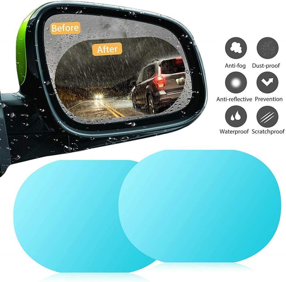 100145mm WEWESALE 2 Pack Anti Fog Glare Rainproof Waterproof Mirror Film HD Clear Nano Coating Car Film for Car Rear View Mirrors Side Windows