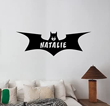Amazoncom Personalized Name Batgirl Logo Wall Decal Custom - Custom vinyl wall decals logo
