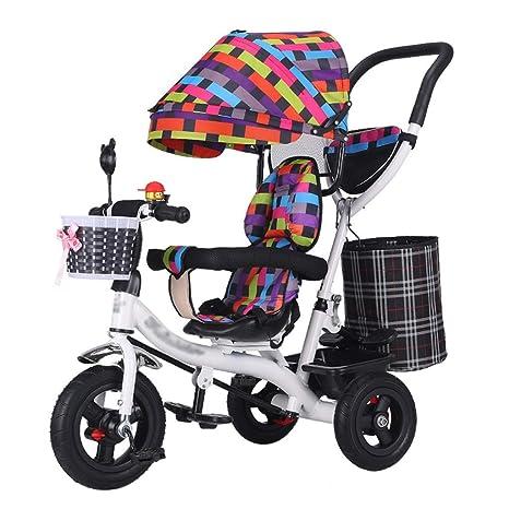 QDY-Cochecitos Carrito para niños Trike Bike Marco de Acero ...