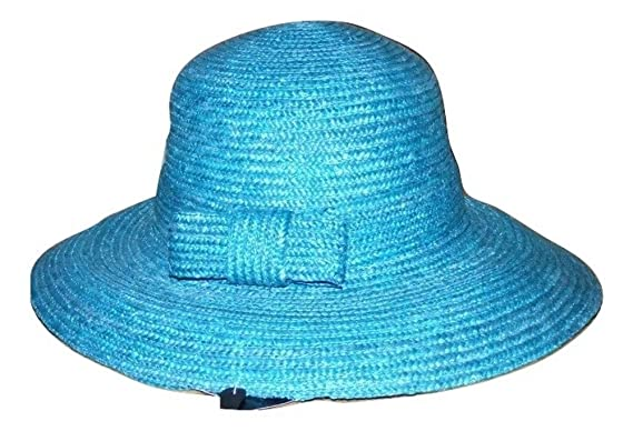 d2e8ee99d67 Image Unavailable. Image not available for. Colour  Pia Rossini Turquoise  Blue Santa Monica Summer Beach Straw Hat