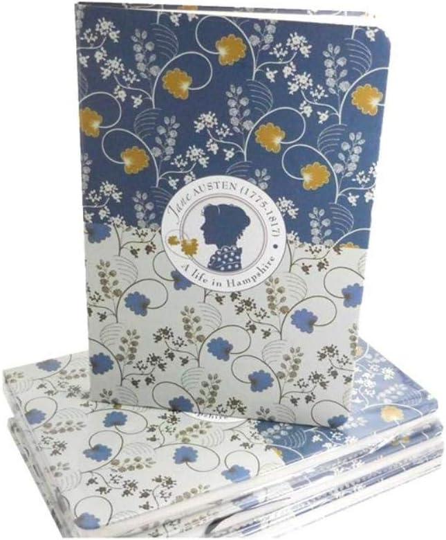 Cuaderno A5 con tapa dura decorativa, diseño de Jane Austen: Amazon.es: Oficina y papelería