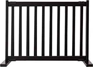 """product image for Dynamic Accents Amish Craftsman Kensington Series 20"""" Tall Free Standing Solid Wood Pet Gates are Handcrafted Small/Black"""