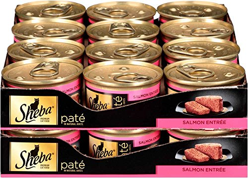 Sheba Pate In Natural Juices Salmon Entrée Canned Cat Food