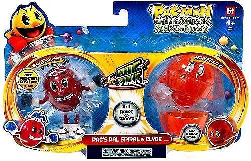 Pac-Man Pac-Panic Spinners, Spiral and Clyde