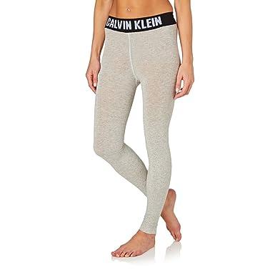 69965e6ed0b5d Calvin Klein Leggings - Calvin Klein Icon Logo Legging - Pale Grey Heather:  Amazon.co.uk: Clothing