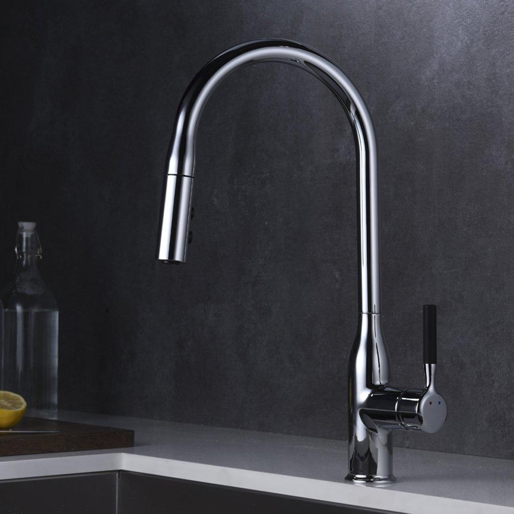 Groß Moderne Küche Wasserhahn Nach Unten Ziehen Ideen ...