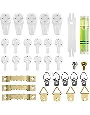 Ganchos de Pared Plásticos Percheros Transparente Soporte Para Colgar Cuadros, Marcos de Fotos, Pack