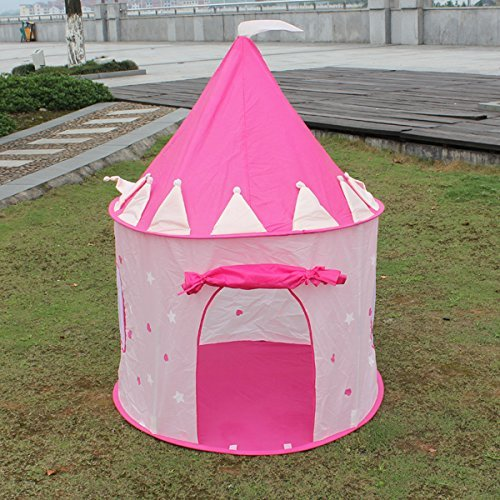 Children Play Tent by StepSafe Girls Pink Princess Castle w Storage Case Play Tent for Toddlers and Kids • Strong and Durable • 100% Safe Playhouse for Kids