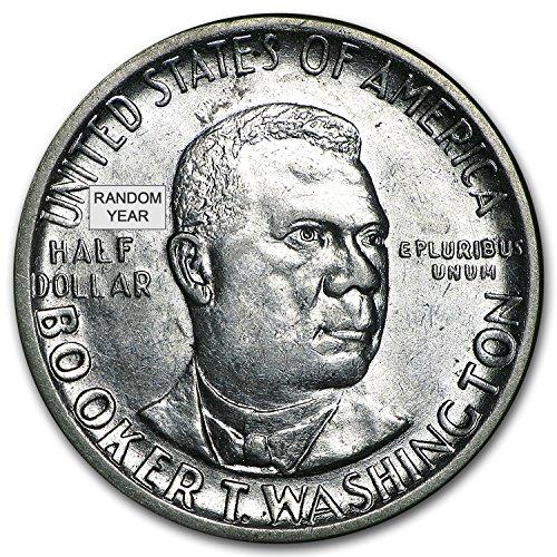 1946 - 51 P,D or S Booker T. Washington Half AU/BU Silver Brilliant Uncirculated