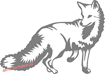 Just For Fun 6 x 4.25 Fox Animal Vinyl Die Cut Decal Bumper Sticker, Windows, Cars, Trucks, laptops, etc