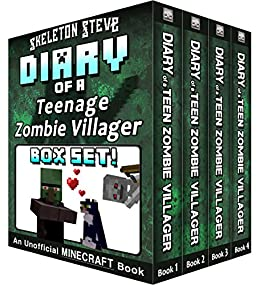 Diary of a Teenage Minecraft Zombie Villager BOX SET - 4 Book Collection 1 : Unofficial Minecraft Books for Kids, Teens, & Nerds - Adventure Fan ...