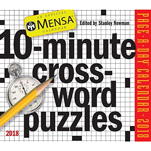10-Minute Crossword Puzzles 2018 Page-A-Day Calendar