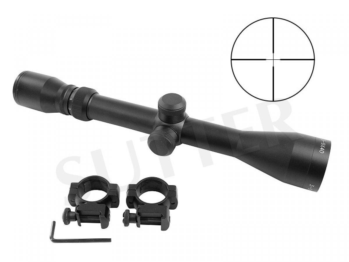 Cannocchiale Ottica con Mirino Reticolo per Fucile carabina Soft Air Cannocchiale mirino 3-9x40 d=25,4 Duplex