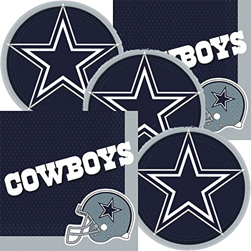 Dallas Cowboys NFL Football Team Logo Plates And Napkins Serves 16]()