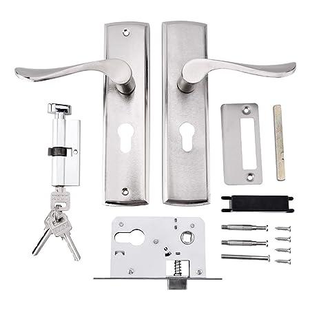 Door Handle Lock Aluminum Interior Door Handle Set Pack Latch Lock