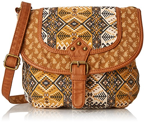 Print Canvas Cross Body (Twig & Arrow Twin Print Canvas Cross Body Bag)