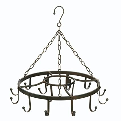 Amazon.com: Hanging Pot Rack, Black Kitchen Pot Rack ...