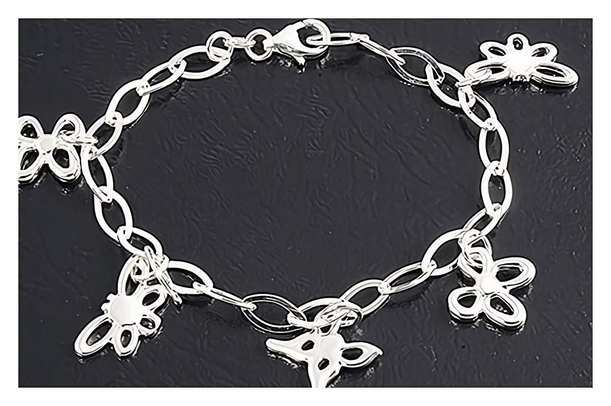 Glitzs Jewels 925 Sterling Silver Necklace Jewelry Gift for Women and Girls Italian Chain, Anchor 120