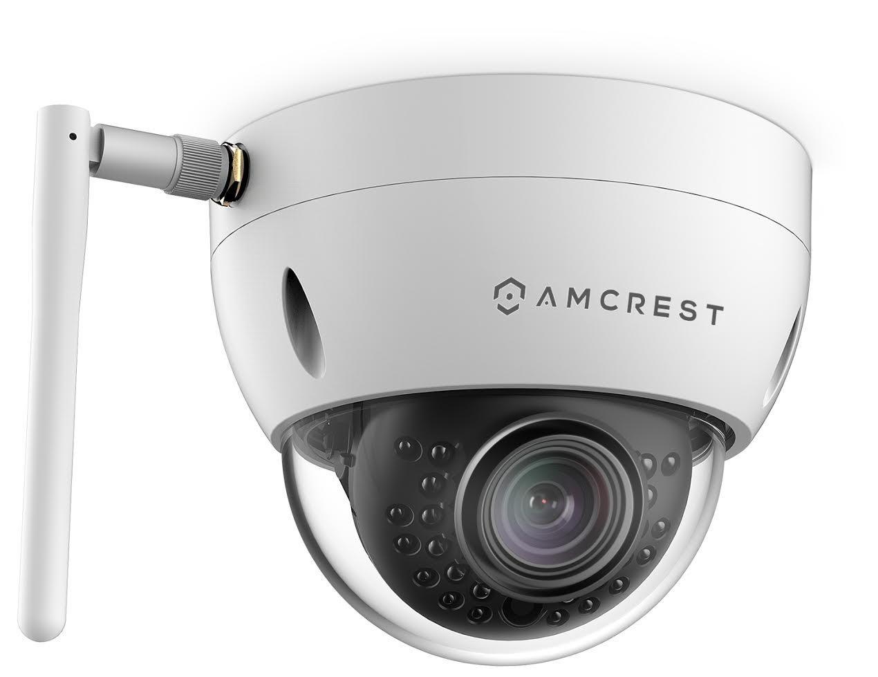 Amcrest ProHD Fixed Outdoor 3-Megapixel 2304 x 1296P Wi-Fi Vandal Dome IP Security Camera – IP67 Weatherproof, IK10 Vandal-Proof, 3MP 1080P 1296P , IP3M-956W White Renewed