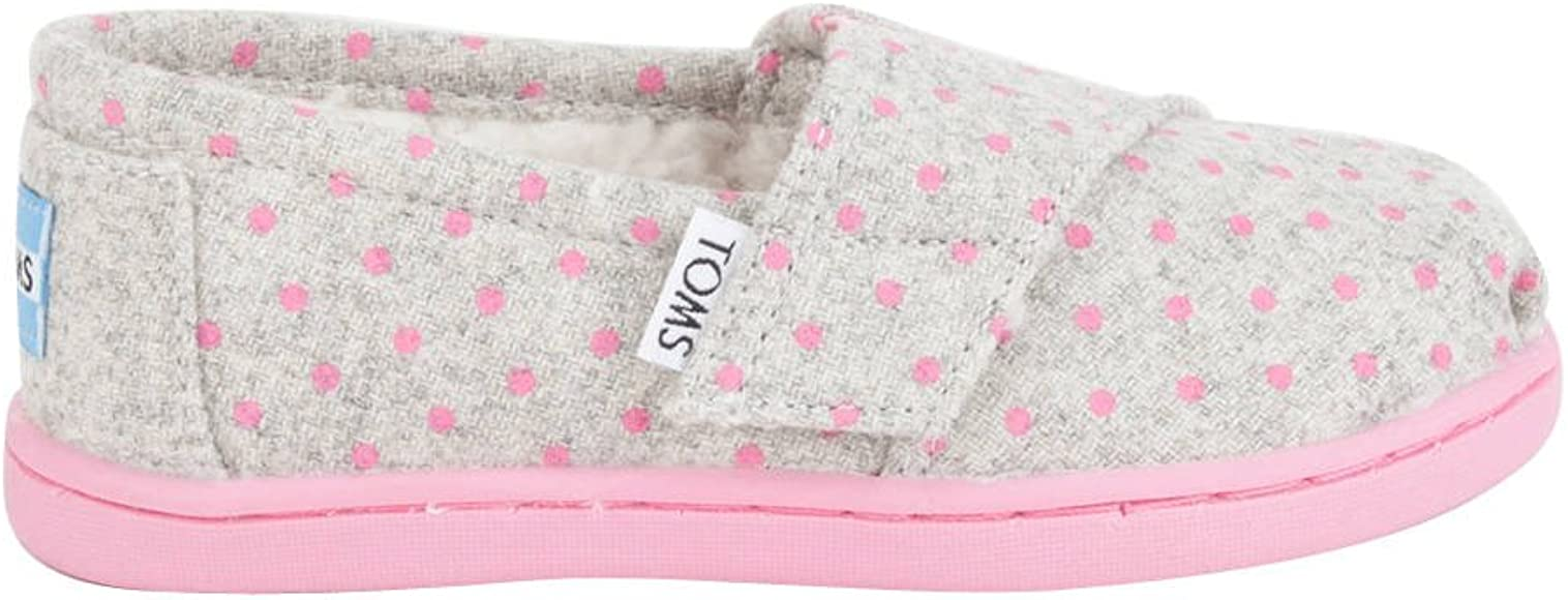 d7aaf9179413 Amazon.com | TOMS Girls' Alpargata - K, Grey Wool Polka Dots, 2 M US ...