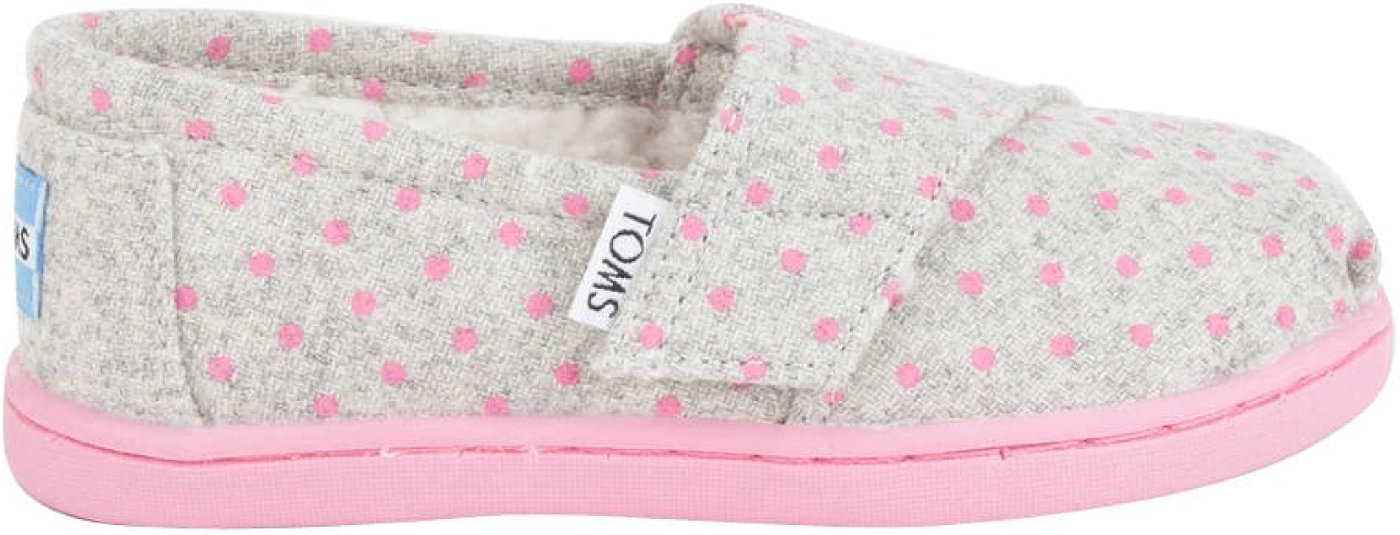 c14010bf43fbc Amazon.com | TOMS Girls' Alpargata - K, Grey Wool Polka Dots, 2 M US ...