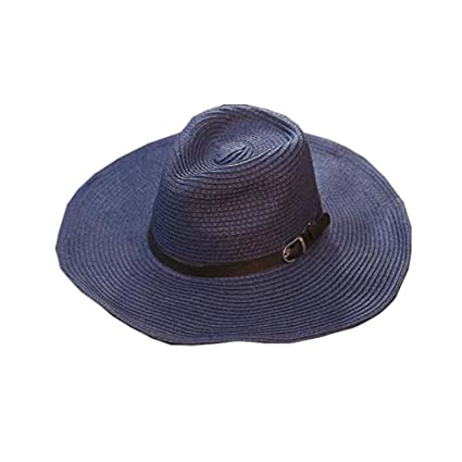 8253de6f7b251c Image Unavailable. Image not available for. Color: DRAGON SONIC Men's Hats  Straw Hat Foldable Cowboy Breathable Hat Beach Hat