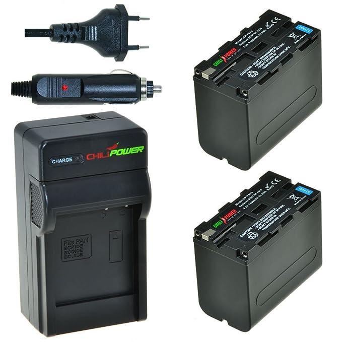 15 opinioni per Chili Potenza f975, NP-F960NP-F970, NP, NP-F950Kit: 2X batteria + caricatore