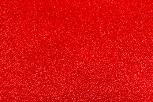 Best Creation Papel con purpurina brillante, rojo, 15pieza