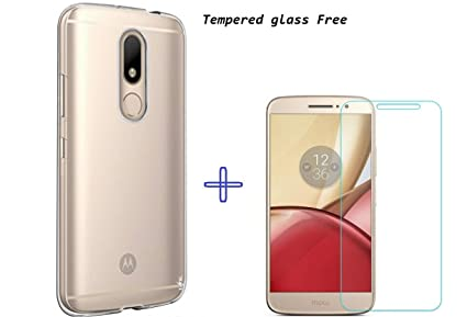 new styles c322e 45b2c Clorox Cover Important Rubber Soft Silicon Back Cover Tempered for Moto M,  Transparent