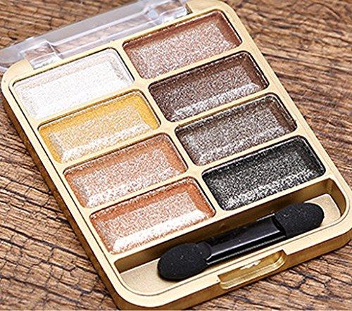 Neutral Matte/Shimmer 8 Color Eyeshadow Palette, KRABICE Eyeshadow Eye Shadow Palette Makeup Kit Set Make Up Professional Box #3