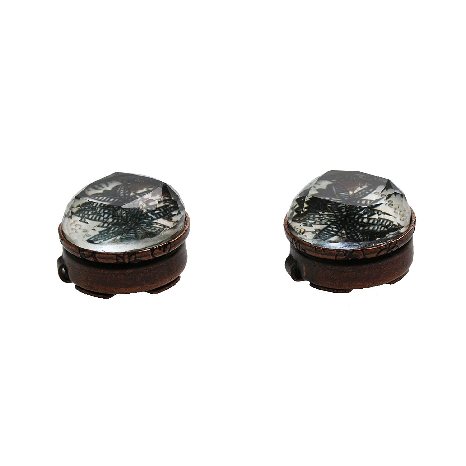 TAMARUSAN Button Cover Lily Cufflinks Handmade Resin