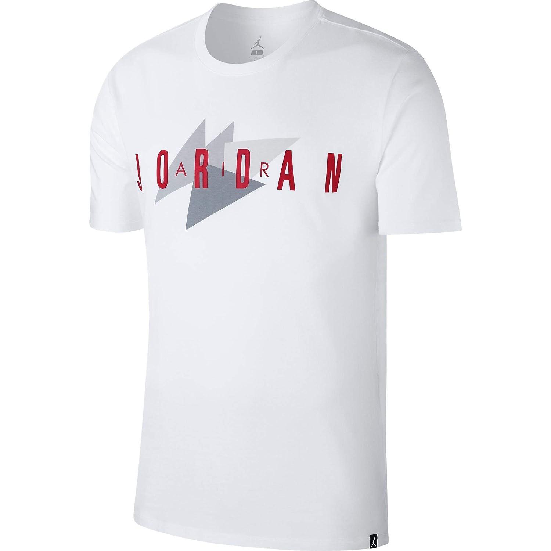 eff4005f3ae4a NIKE Men's Jordan Brand 1 T-Shirt (White/Red/Grey, Large)
