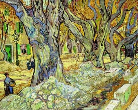 Vincent Van gogh-the Large Plane Trees、1889`油絵、24x 30インチ/ 61x 76cm、の印刷ポリエステルキャンバス、このが安いアート装飾アート装飾プリントキャンバスは、Perfectly Suitalbe For Game Roomギャラリーアートとホーム装飾、ギフトの商品画像