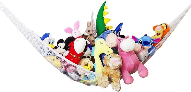 Zebrum Spielzeug Hängematte Aufbewahrung Netz Für Kuscheltiere Extra Groß 213 X 150 X 150cm Spielzeug Organizerzubehör Weiß
