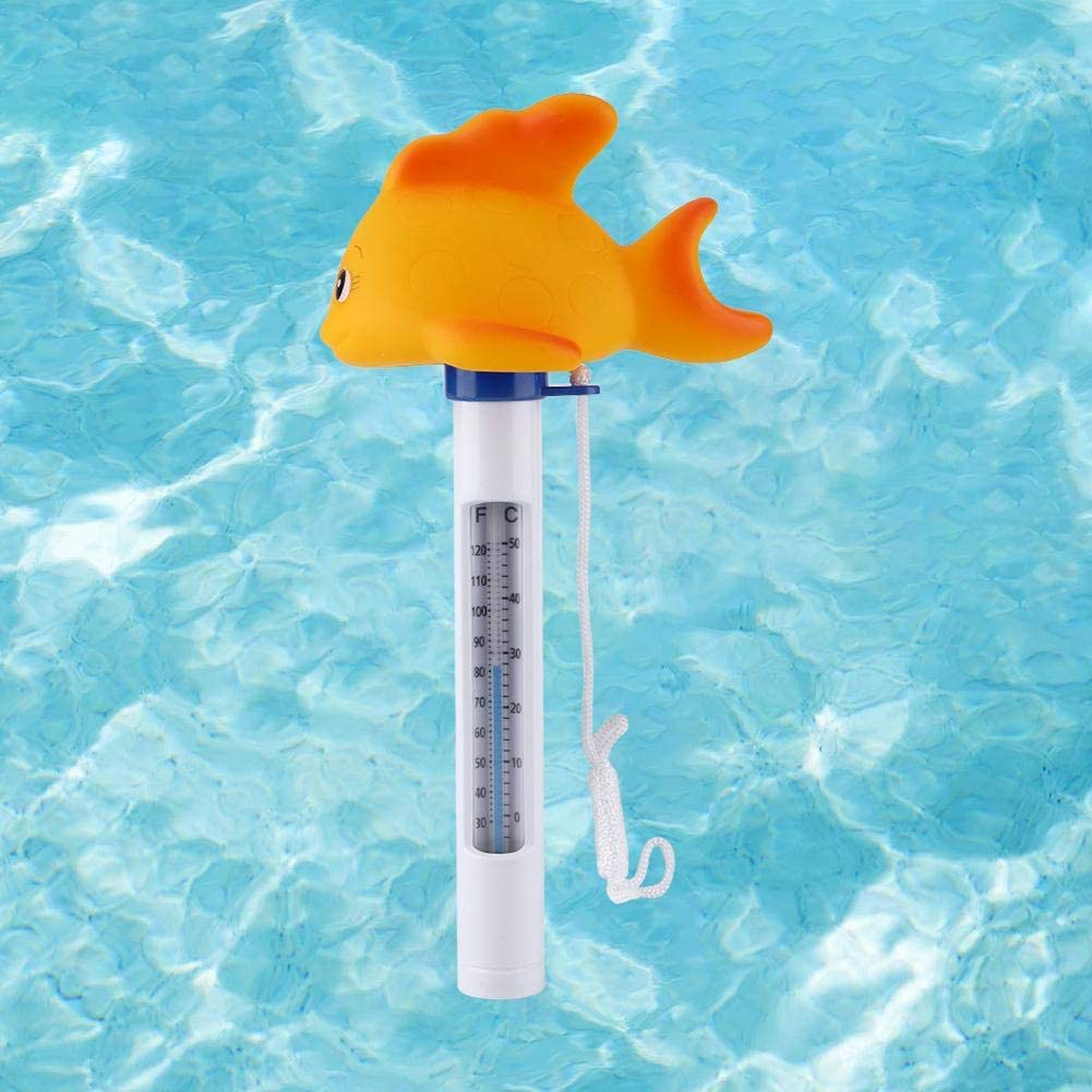 Fish V GEBY Floating Pool Thermometer Water Temperature Thermometers for Infant Bathtub and Swimming Pool