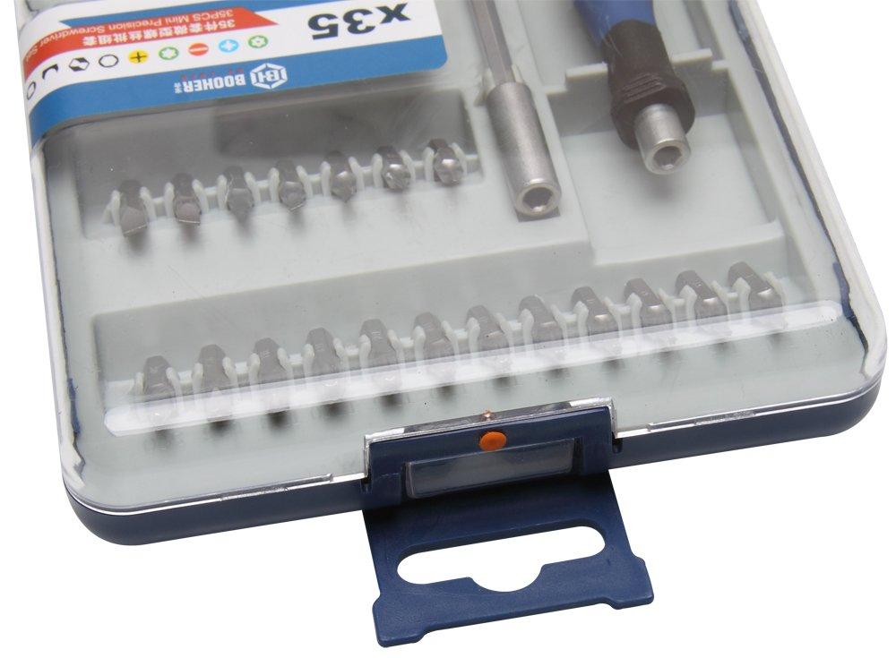 t/él/éphone portable console de jeu Booher 1900204/35-piece Mini tournevis de pr/écision Electronics Ensemble Outil de r/éparation pour iPhone PC, tablette MacBook