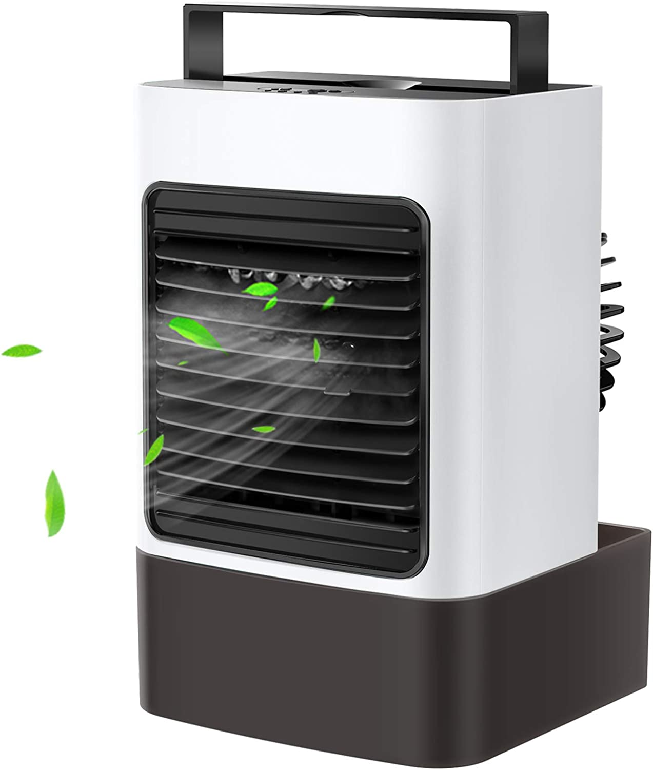 Portable Air Conditioner Fan Mini Evaporative Cooler Personal Air Cooler Desktop Fan Ultra-Quiet Humidifier Misting Cooling Oscillation Fan for Home Office Bedroom