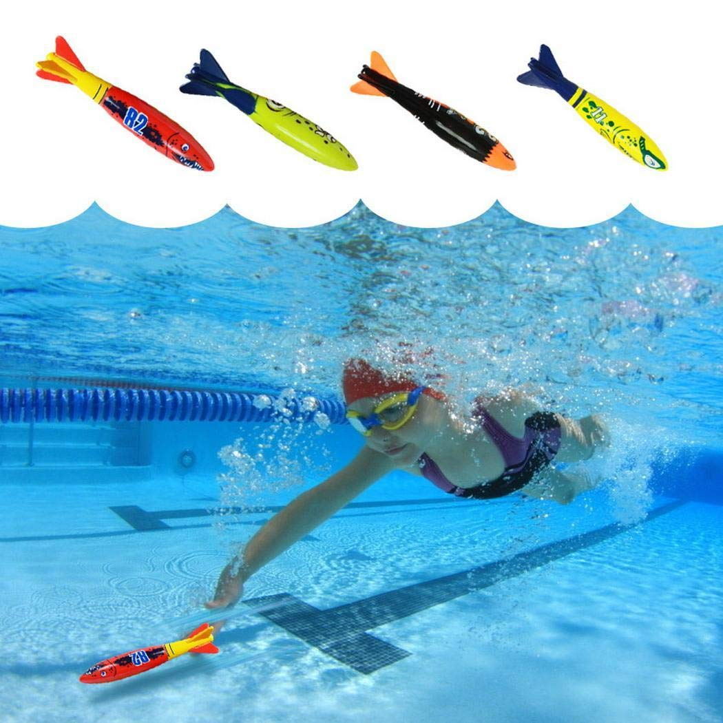 1PC Torpedo Rocket Playing Pool Toy Diving Game Underwater Dive Pool Party Toy (Random Color) by Todens