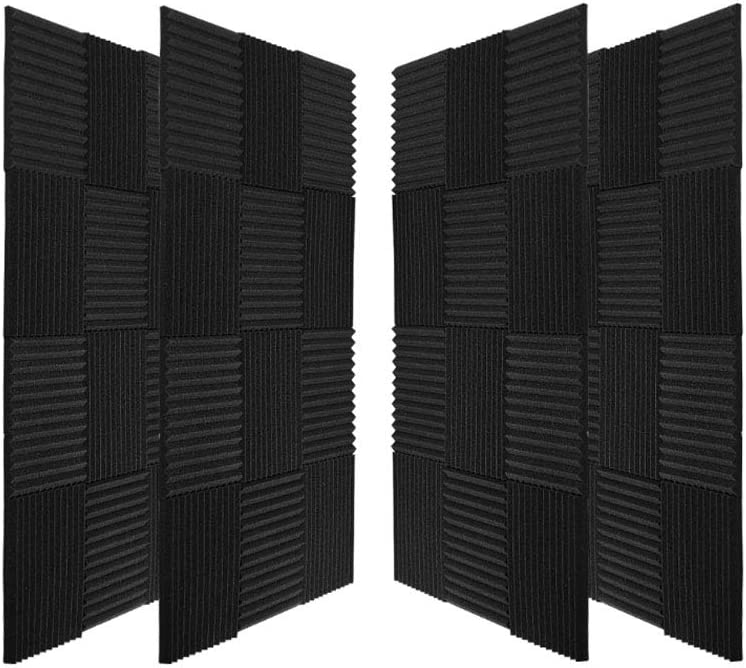 96 Pack Acoustic Panels Soundproof Studio Foam for Walls Sound Absorbing Panels Sound Insulation Panels Wedge for Home Studio Ceiling, 1