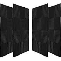 50 Pack Acoustic Panels Soundproof Studio Foam for Walls Sound Absorbing Panels Sound Insulation Panels Wedge for Home…