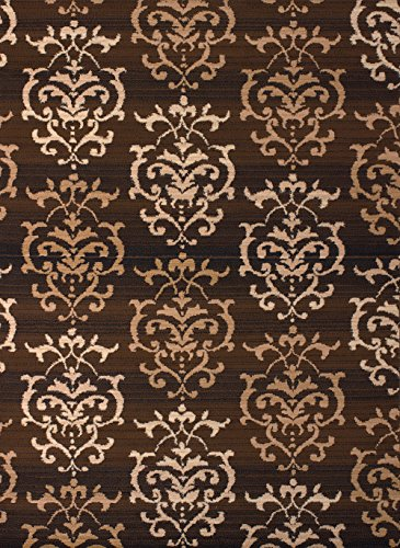 - United Weavers of America Dallas Countess Rug - 5ft. 3n. X 7ft. 2in, Chocolate Brown, Area Rug with Abstract Pattern, Jute Backing