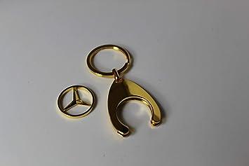 Mercedes-Benz - Llavero con Moneda de la Compra, Color Dorado