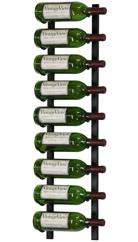 VintageView 9 Bottle Wall Mounted Metal Hanging Wine Rack