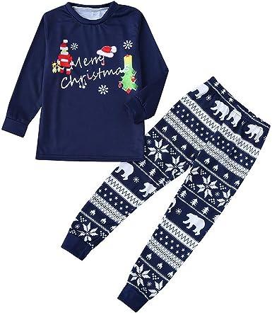 Fossen Kids Pijamas Navideños Familiare Estampados, Conjunto ...