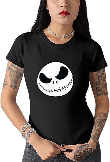 Elbster Jack skellington cabeza del gato camisa gótica para mujeres: Amazon.es: Ropa y accesorios